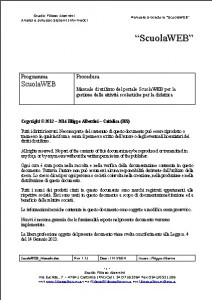 Frontespizio manuale ScuolaWEB